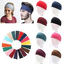 Men Women Sport Yoga Headband Sweatband Stretch Fitness Hair Band Tie Head Wrap