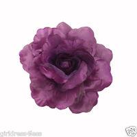 Rose Satin Woman Baby Wedding Flower Girl Dress Pin Ponytail Hair Clip Headpiece