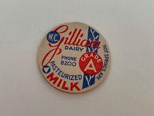 W.C. Gilliam Dairy Milk Bottle Cap - Hot Springs, Arkansas