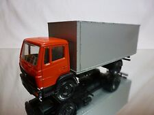 NZG MODELLE 250 MERCEDES 709-1114 TRUCK BOX BODY - RED 1:50 - GOOD CONDITION