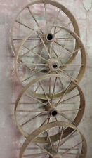 Antique farm Equipment or Industrial equipment wheels, 28 inches tall!