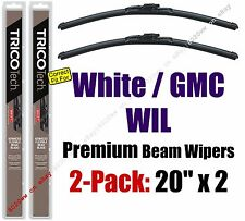 Wiper Blades 2-Pack Premium - fit 1991-1992 White GMC WIL - 19200x2