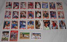 Boston Red Sox Baseball Cards 1990 Set 28 Fleer Upper Deck Donruss Topps