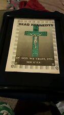 Dead Kennedys In God We Trust, INC. Rare Original U.K. Promo Poster Ad Framed!