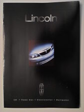 LINCOLN CONTINENTAL TOWN CAR NAVIGATOR & LS orig 2000 USA Mkt Sales Brochure