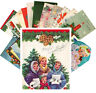 Postcards Pack [24 cards] Vintage Christmas Card Mix Cute Kitten Kids CE5003