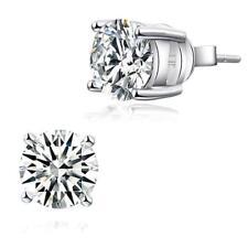 1 Carat Created Diamond Stud Earrings 925 Sterling Silver (KIDS,WOMEN,MEN)
