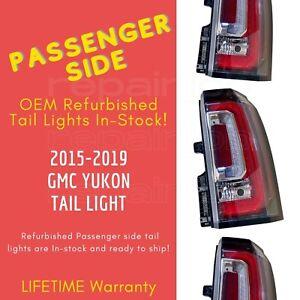 Rebuilt GMC Yukon XL Passenger Side OEM Tail Light For 2015-2018, Denali SLE SLT