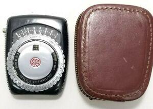 GE PR-1 Exposure Meter General electric Handheld Vintage 1950's works with case