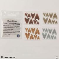 Riverruns Realistic Flies 32pcs/Bag Caddis Dry Trout Flies Wings 4 Color 4 Size