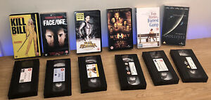 Vintage Classic Retro VHS Tapes x6 Kill Bill Forest Gump Face Off Tomb Raider