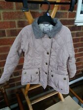 "Stunning Girls ""Next"" Beige Fleece Lined Quilted Coat - Age 5-6 Years"