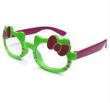 ANT Ribbon Frame Design Kids Fashion Glasses Eyewear - GREEN