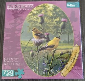 Hautman Brothers Country Morning Goldfinch Birds 750 Piece Puzzle New Sealed