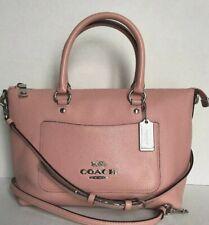 New Coach F31466 mini Emma Pebble Leather Satchel handbag Petal