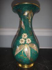 Rosenthal Porcelain Gold Rim Vase Hand Painted Flowers Artist Signed K. T.