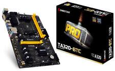 Biostar TA320-BTC Motherboard CPU Ryzen CPU APU AM4 AMD DDR4 DVI 6x PCI-E Slots