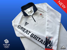 ADIDAS TEAM GB UNISEX ATHLETE 1/2 ZIP FLEECE SWEATSHIRT SIZE 14 CHEST 36/38