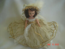 "Fancy Dressed Vtg. Nancy Ann Storybook 6 1/2"" Doll Hard Plastic Sleep Eyes Usa"