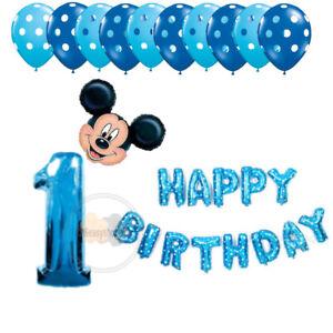1ST HAPPY BIRTHDAY Foil Balloons Star Heart baloon Latex birthday Party ballonUK