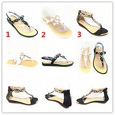 New Fashion Women's Thong Flat Sandals Ladies Summer Casual Shoes Toe Flip Flops