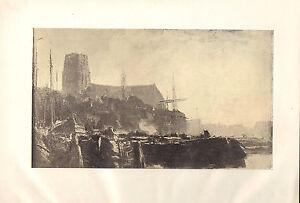 1900 Viktorianisch Studio Aufdruck ~ Souvenir Von Dordrecht Von J. Maris