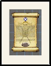 CLAN HAIG - Clan History, Tartan, Crest, Castle & Motto MOUNTED PRESENTATION