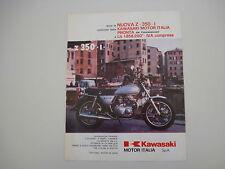 advertising Pubblicità 1979 MOTO KAWASAKI Z350 Z 360 I
