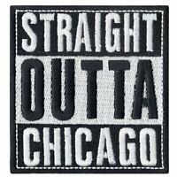 Straight Out Of Chicago Iron On Logo Iron On Embroidered Patch