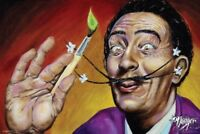 James Danger Harvey Salvador Dali Portrait Colorful Art Print Poster 36x24