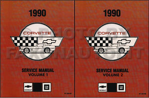 1990 Corvette Shop Manual 90 Chevy Chevrolet Repair Service Book