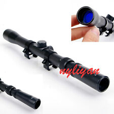 New 3-7X20 Optic Cross Reticle Scope Sight fit Mount 11mm Rail For Hunting Rifle