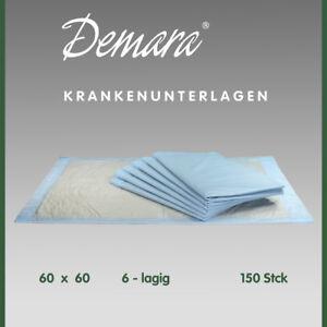 Krankenunterlagen 60x60•6-lagig Wickelunterlagen Matratzenschutz Betteinlagen