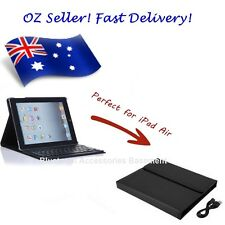 iPad leather case with Bluetooth keyboard (Black, for Apple iPad Air 1 2 3)