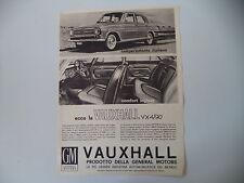 advertising Pubblicità 1963 VAUXHALL VX 4/90