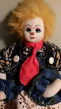 Sand filled Q-Tee Yellow Clown pose-able doll with cloth face