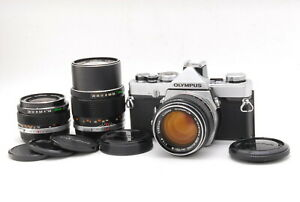 Rare!! OLYMPUS M-1 + M-SYSTEM 50mm F1.4 + 35mm + 135mm Lens Set from Japan #1378