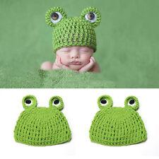 Fotoshooting Baby Fotografie Frosch Strick Mütze Kostüm Häkelkostüm Neugeborenen