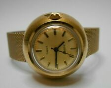 Vintage Timex Electric Gold Tone Bubble Shape Watch Retro 1972 - Needs Battery