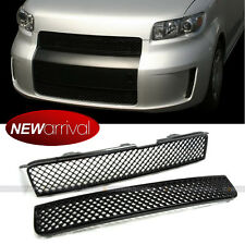 For: xB 08-10 Upper & Lower Center Badgeless Glossy Black VIP Mesh Grill Grille