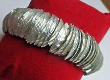 beau bracelet  extensible en nacre naturel bijou vintage élastique 5123