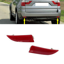 New Pair Rear Bumper Cover Left Right Reflector Red For BMW X3 2004-2010