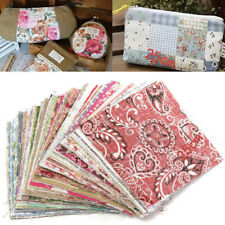 Assorted Pre Cut Charm Fat Quarters Cotton Fabric Quilt Sewing Bundle Square DIY