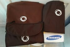 set bugaboo cameleon 1 and 2 Brown Chocolate hood apron and seat liner Canvas