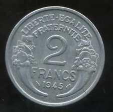 2 FRANCS  morlon alu 1945  TTB ++