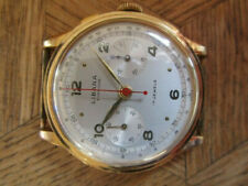 MDG Vintage Gold Plated LIBANA Superior Chronograph Watch Cal. Valjoux 23.