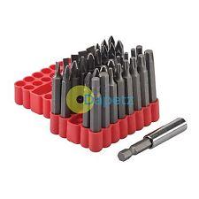 33 piezas Juego de destornilladores Bit 50mm Cromo Vanadio 5 X Ranurados, Soporte de Puntas Y Estuche