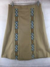 TotePoint by Toni Totes of Vermont Vintage Wrap Skirt With Crewel Inserts SZ L