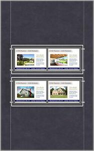 A4 LED Single Sided Pockets - Landscape 2x2 Display