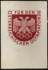 1936 Innsbruck Austria Postcard Cover Winter Olympic Funds